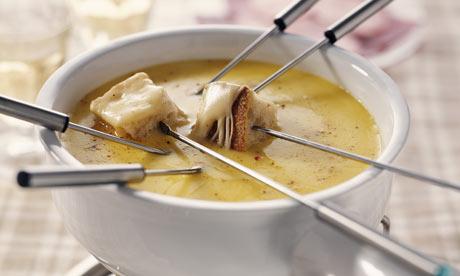 Receta fondue de queso